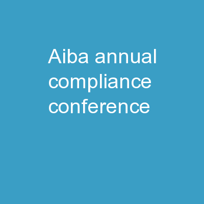 AIBA Annual Compliance Conference