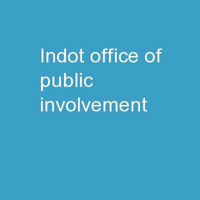 INDOT Office of Public Involvement