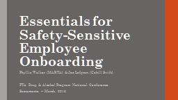 Essentials for Safety-Sensitive Employee Onboarding