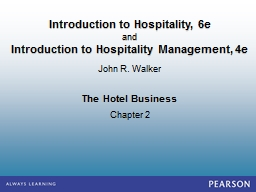 The Hotel Business Chapter 2