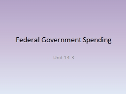 Federal Government Spending