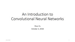 An Introduction to Convolutional Neural Networks PowerPoint PPT Presentation