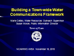Building a Town-wide Water Communications Framework