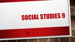 Social studies 9 What's the big ideas? PowerPoint PPT Presentation