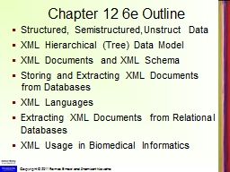 Chapter 12 6e Outline Structured,