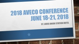 2018  aveco  conference