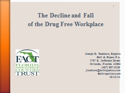 The Decline and Fall  of the Drug Free Workplace