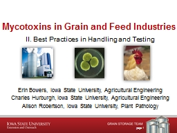 page 1 Mycotoxins  in Grain and Feed