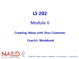 1 LS 202 Module   II Creating Value with Your Customer