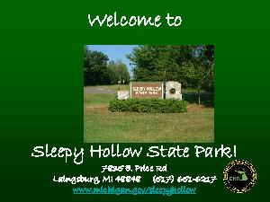 Sleepy Hollow State Park offers  Over  acres just off US near St