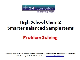 High  School  Claim 2 Smarter Balanced Sample