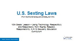 U.S.  Sexting  Laws 10th