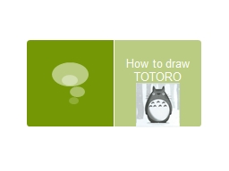How to draw TOTORO Step 1