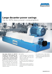 New design features for ANDRITZ SEPARATION Dtype decan
