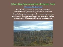 Silver Bay Eco-Industrial Business Park