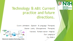Technology & ABI: Current practice and future directions.