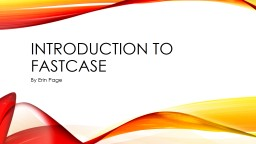 Introduction to Fastcase