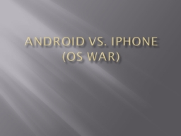 Android vs.  IPhone   (OS War) PowerPoint PPT Presentation