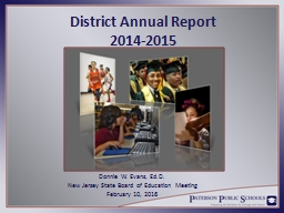 District Annual Report 2014-2015