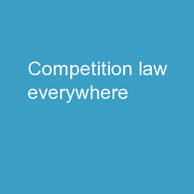 Competition Law Everywhere