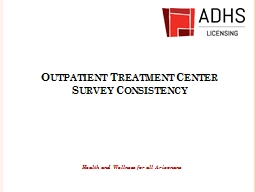 Outpatient Treatment Center
