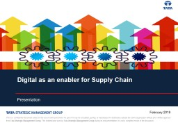 Digital as an enabler for Supply Chain