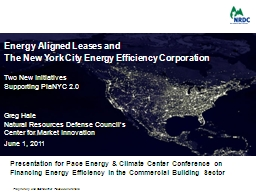Energy Aligned Leases and