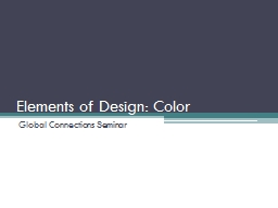 Elements of Design: Color PowerPoint PPT Presentation