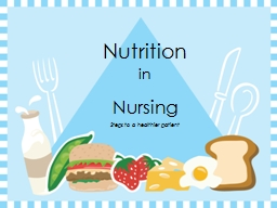 Nutrition in Nursing PowerPoint PPT Presentation