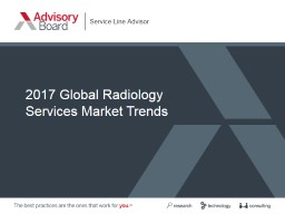2017 Global Radiology  Services Market Trends