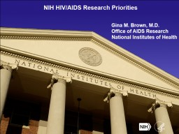 NIH HIV/AIDS Research Priorities