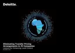 Eliminating Transfer Pricing Arrangements in JV Companies