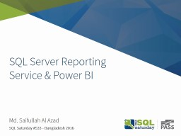 SQL Server Reporting Service & Power BI
