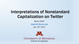 Interpretations of Nonstandard Capitalization on Twitter