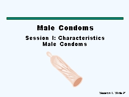 Male Condoms Session I: Characteristics