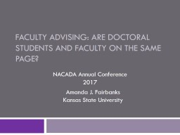 Faculty Advising: are doctoral students and faculty on the same page?