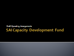SAI Capacity Development Fund