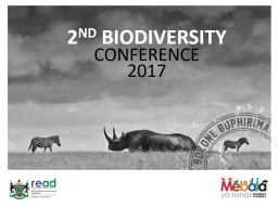 2 ND  BIODIVERSITY CONFERENCE