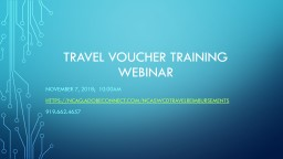 Travel Voucher Training Webinar