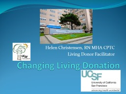 Changing Living Donation