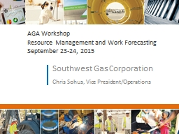 AGA Workshop Resource Management and Work Forecasting