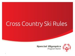 Cross Country Ski Rules 1