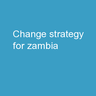 Change Strategy for Zambia