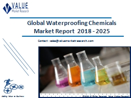 Waterproofing Chemicals Market Share, Global Industry Analysis Report 2018-2025