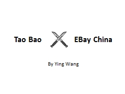 Tao Bao                 EBay China