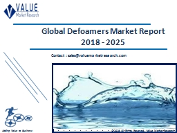 Defoamers Market Share, Global Industry Analysis Report 2018-2025