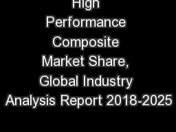 High Performance Composite Market Share, Global Industry Analysis Report 2018-2025