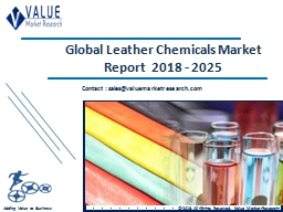 Leather Chemicals Market Share, Global Industry Analysis Report 2018-2025