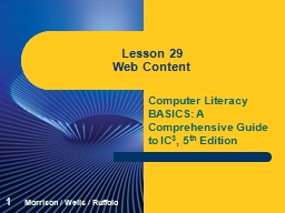 Computer Literacy BASICS: A Comprehensive Guide to IC PowerPoint PPT Presentation