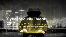 Cyber Security Threats 2017